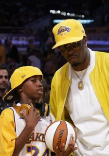 Diddy & his son Justin // NBA Finals 2009 Game 2