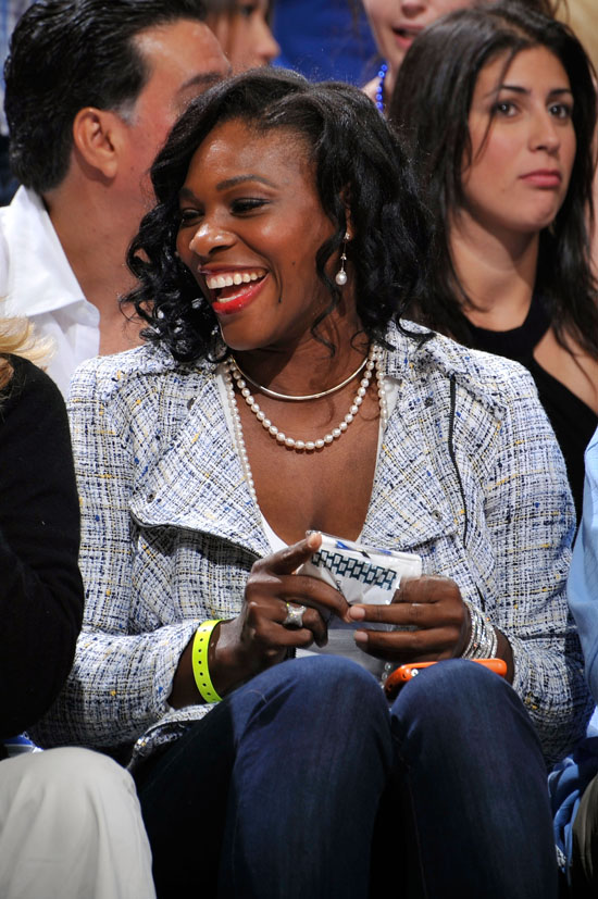Serena Williams // Game 5 of the 2009 NBA Finals in ...