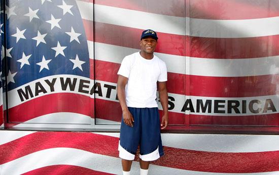 Floyd Mayweather Jr // Flag Day Celebration at Floyd Mayweather Jr's Las Vegas Boxing Gym