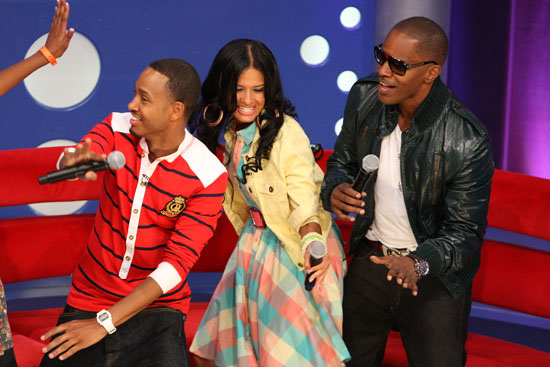 Terrence J, Rocsi and Jamie Foxx on BET's 106 & Park (June 18th 2009)