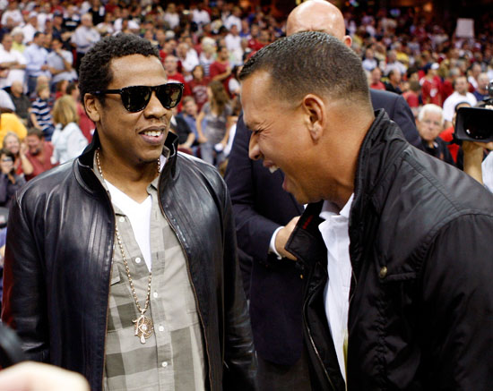 Jay-Z & Alex Rodriguez courtside at Cavaliers/Magic game (May 28th 2009)