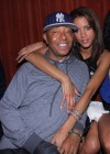 Russell Simmons & his girlfriend Noemie Lenoir // Jessica White's 25th Birthday Party at Mr. West in NYC