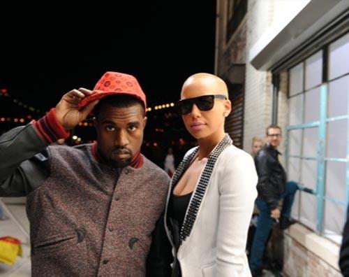 Kanye West & girlfriend Amber Rose