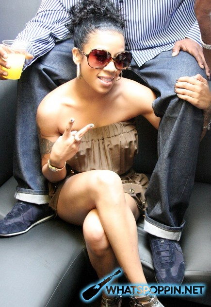 "Keyshia Cole with her boyfriend Daniel ""Boobie"" Gibson at club Dolce (June 2nd 2009)"
