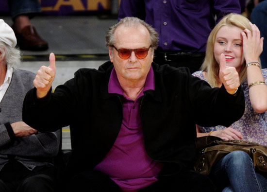 Jack Nicholson // Laker vs. Magic Game (NBA Finals Game One) in Los Angeles - June 4th 2009