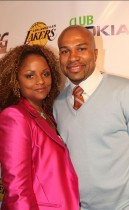 Derek Fisher and his wife Candace // Los Angeles Lakers Victory Party at Club Nokia