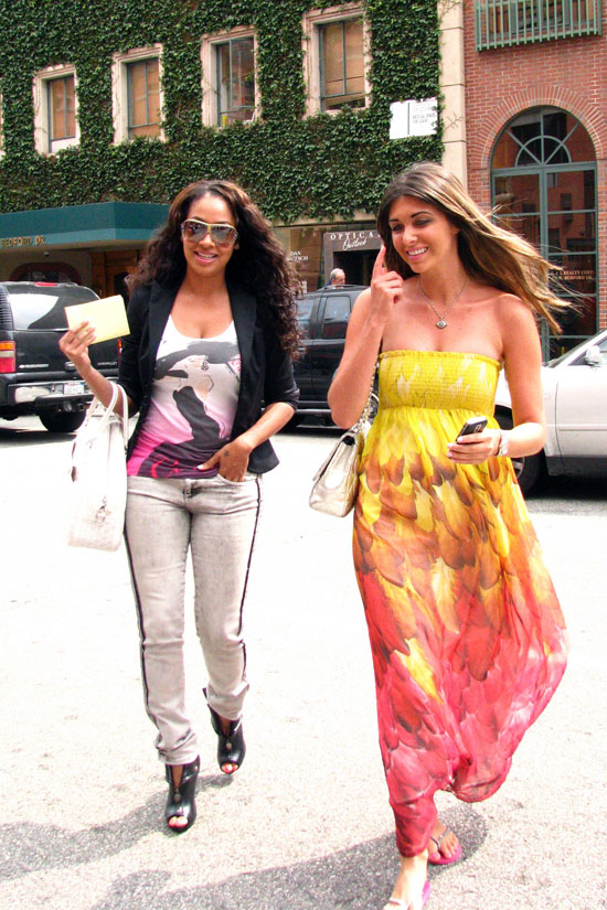 Lala Vazquez & Brittny Gastineau hanging out in Beverly Hills (June 11th 2009)