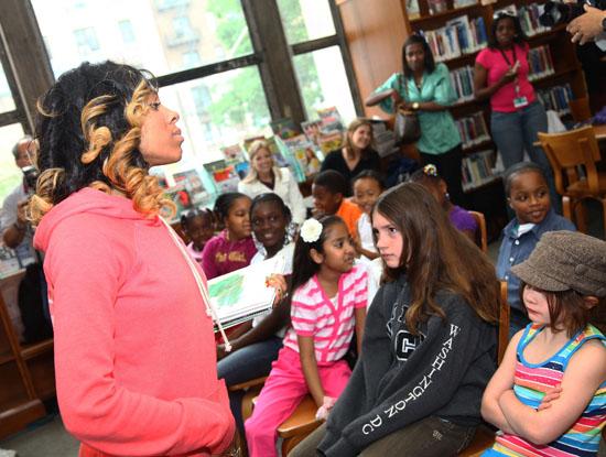 Lil Mama // Kickoff for 2009 Summer Reading Program at Brooklyn Library