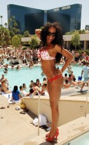 Melanie Brown // 34th Birthday Celebration at MGM Grand\'s Wet Republic