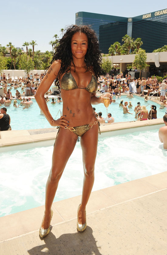 Melanie Brown // 34th Birthday Celebration at MGM Grand's Wet Republic