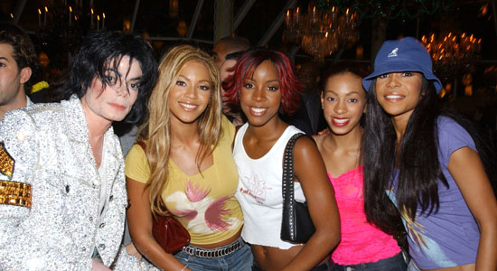 Michael Jackson, Beyonce Knowles, Kelly Rowland, Solange Knowles and Michelle Williams