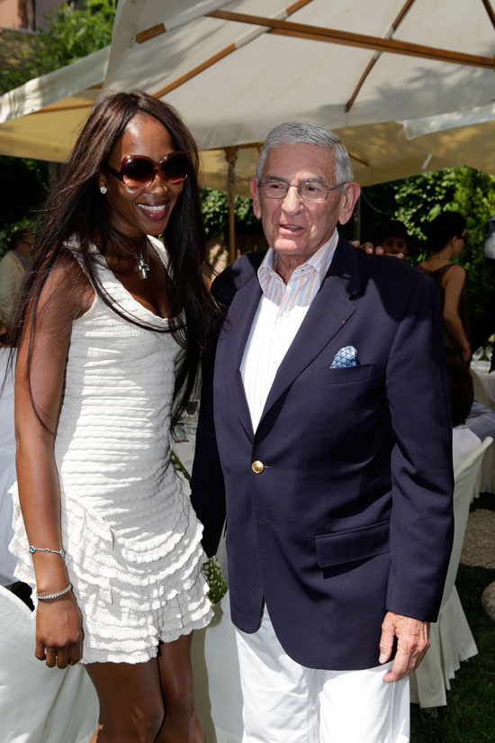 Naomi Campbell and Eli Broad // MOCA New Luncheon at the Venice Biennale 2009