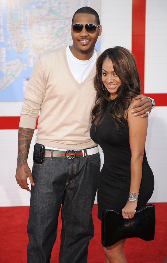 Carmelo Anthony & Lala // Premiere of Taking of Pelham 1, 2, 3 in Hollywood