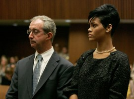Rihanna and her lawyer Donald Etra in LA Superior Court (June 22nd 2009)
