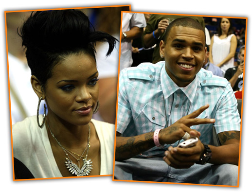 Rihanna & Chris Brown (separately) attend Game 4 of the 2009 NBA Finals