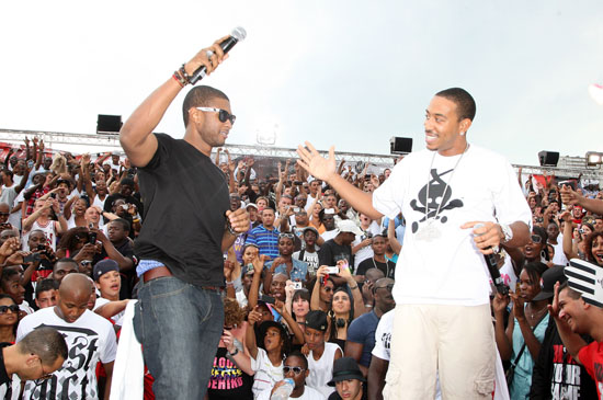 Usher & Ludacris // 54th International Streetball Championships in Paris, France