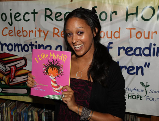 Tia Mowry // Reading is Fun event at Purche Avenue Elementary in California