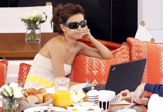 Eva Longoria on Vacation in St. Tropez (June 2009)