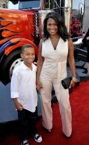 Nia Long & her son Massai // Transformers 2: Revenge of the Fallen premiere in Hollywood