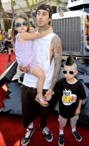 Travis Barker, his daughter Alabama and his son Landon // Transformers 2: Revenge of the Fallen premiere in Hollywood