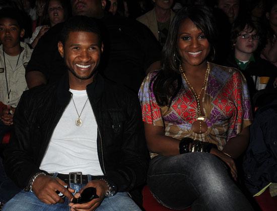 usher tameka Usher On Good Terms W/Ex Wife