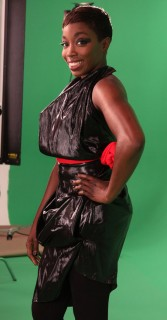 Estelle on the set of World Go Round in New York City (June 15th 2009)