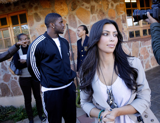 Kim Kardashian & Reggie Bush in Mochudi, Botswana (July 14th 2009)