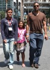 Rick Fox and his children on their way to Comic Con (July 24th 2009)