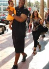 """Tommy """"Tiny"""" Lister and his family leaving The Hard Rock Hotel (July 24th 2009)"""