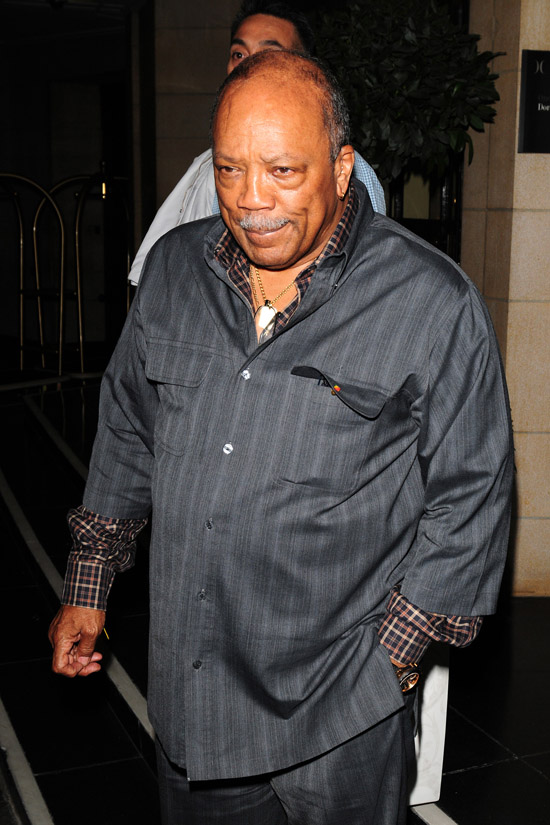 Quincy Jones leaving the Dorchester Hotel in London, England (June 30th 2009)