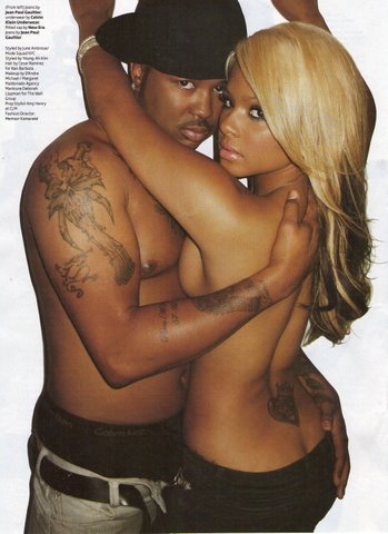 Christina Milian & The Dream in final issue of VIBE Magazine