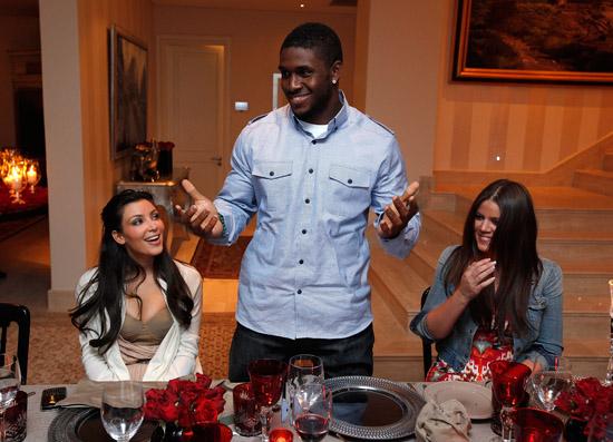 Kim Kardashian, Reggie Bush and Khloe Kardashian // Private Dinner for the Diamond Empowerment Fund