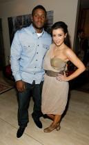 Reggie Bush and Kim Kardashian // Private Dinner for the Diamond Empowerment Fund