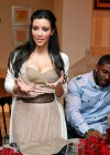Kim Kardashian and Reggie Bush // Private Dinner for the Diamond Empowerment Fund