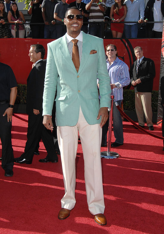 Carmelo Anthony Dressed Up. NBA player Carmelo Anthony
