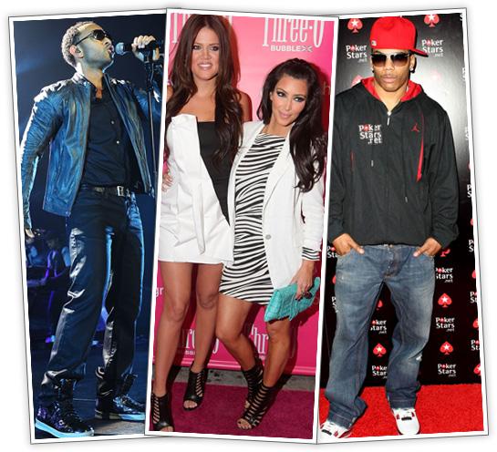 Event Pix: John Legend // Khloe & Kim Kardashian // Nelly