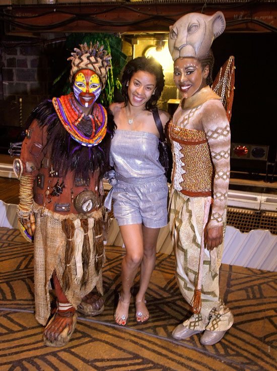 "Keyshia Cole backstage at ""The Lion King"" on Broadway in NYC (July 12th 2009)"