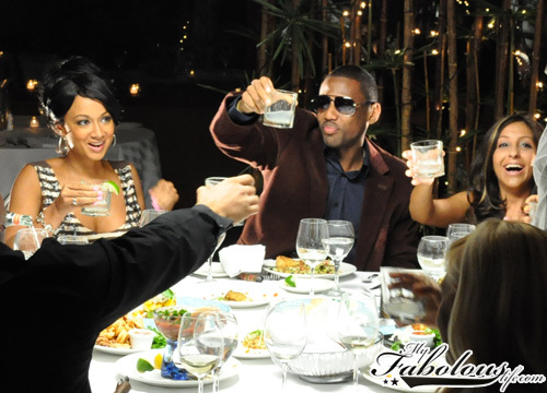 "Fabolous on the set of ""When the Money Goes"" in New York City (July 2009)"