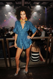 Jade Cole attends Nelly\'s performance at The Mirage\'s Jet Nightclub in Vegas
