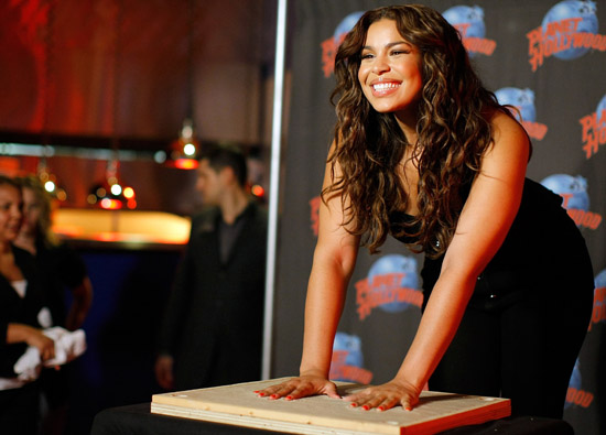 Jordin Sparks // Handprint Ceremony at Planet Hollywood in New York City (July 21st 2009)