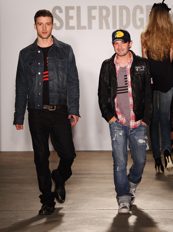 Justin Timberlake and designer Trace Ayala // William Rast New Denim Collection Launch at Selfridges