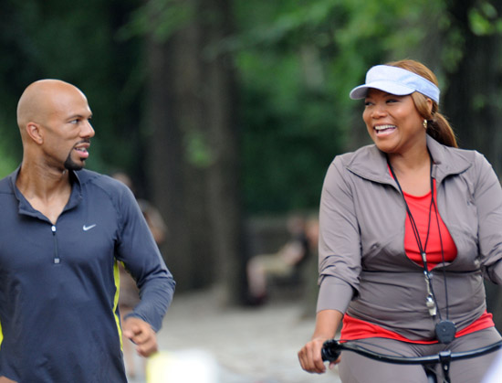 "Common and Queen Latifah on the set of ""Just Wright"" in Manhattan, NYC (July 28th 2009)"