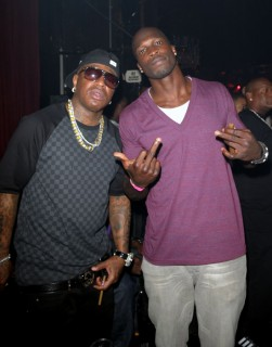 Birdman and Chad Ochocinco // Lil Kim's 34th Birthday Party at Mansion in Miami (July 23rd 2009)