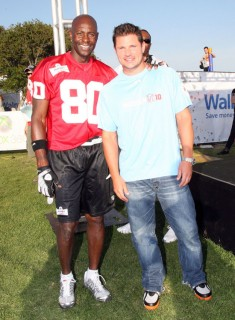 Jerry Rice and Nick Lachey // Madden NFL '10 Pro-Am Celebrity Football Tournament