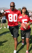 Jerry Rice and Kelly Rowland // Madden NFL '10 Pro-Am Celebrity Football Tournament
