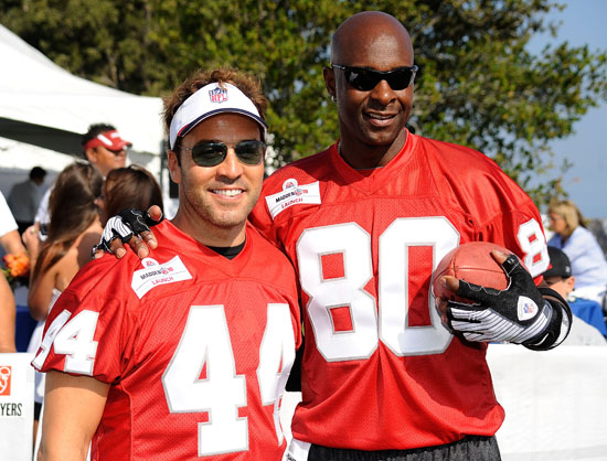 Jeremy Piven and Jerry Rice // Madden NFL '10 Pro-Am Celebrity Football Tournament