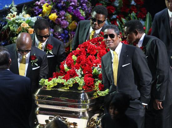 Randy, Marlon, Tito, Jermaine and Jackie Jackson // Michael Jackson's Public Memorial