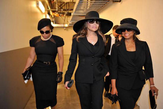 Janet, LaToya and Rebbie Jackson // Michael Jackson's Public Memorial