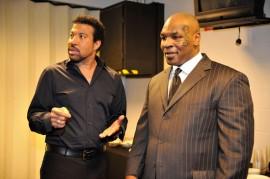 Lionel Richie and Mike Tyson // Michael Jackson's Public Memorial (Backstage)