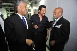 Rev. Al Sharpton, Lionel Richie and Berry Gordy // Michael Jackson's Public Memorial (Backstage)